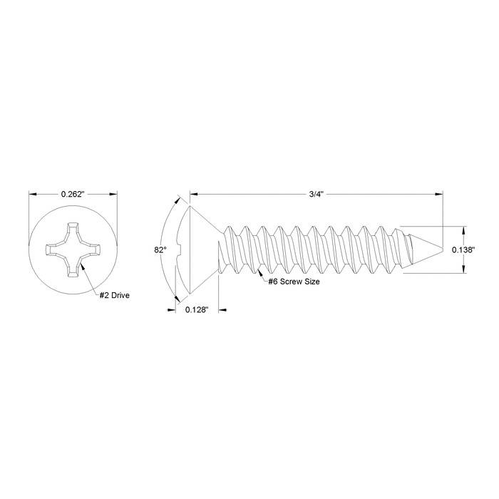 Stainless Oval Head Phillips Screw For Cabinet Corners