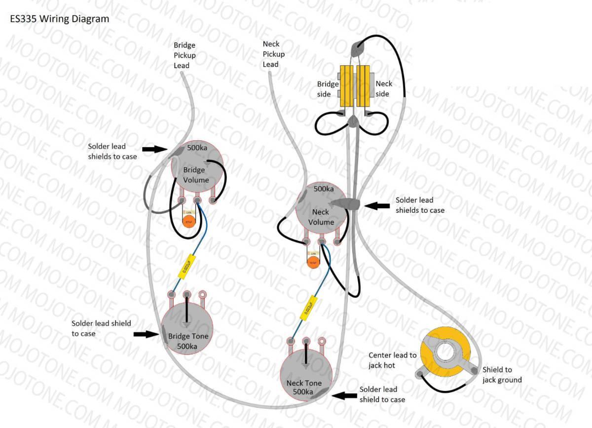 Pre-Wired ES-335 Guitar Wiring Harness
