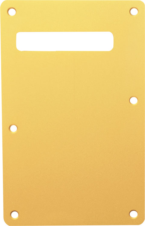 Standard Strat Backplate Anodized Aluminum Gold 24k