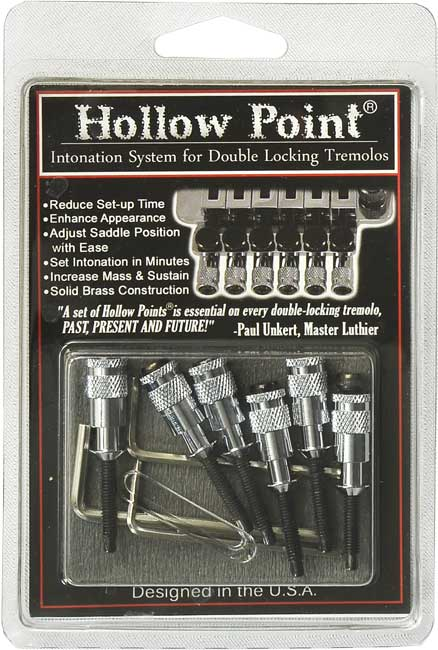 Hollow Point Intonation System for Floyd Rose Chrome