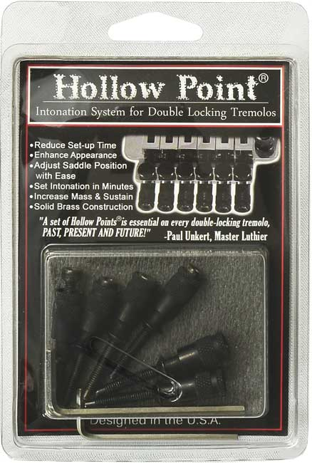 Hollow Point Intonation System for Floyd Rose Black