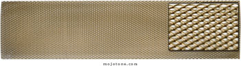 British Style Gold Metal Mesh for Backpanels (DIY Trim to Fit)