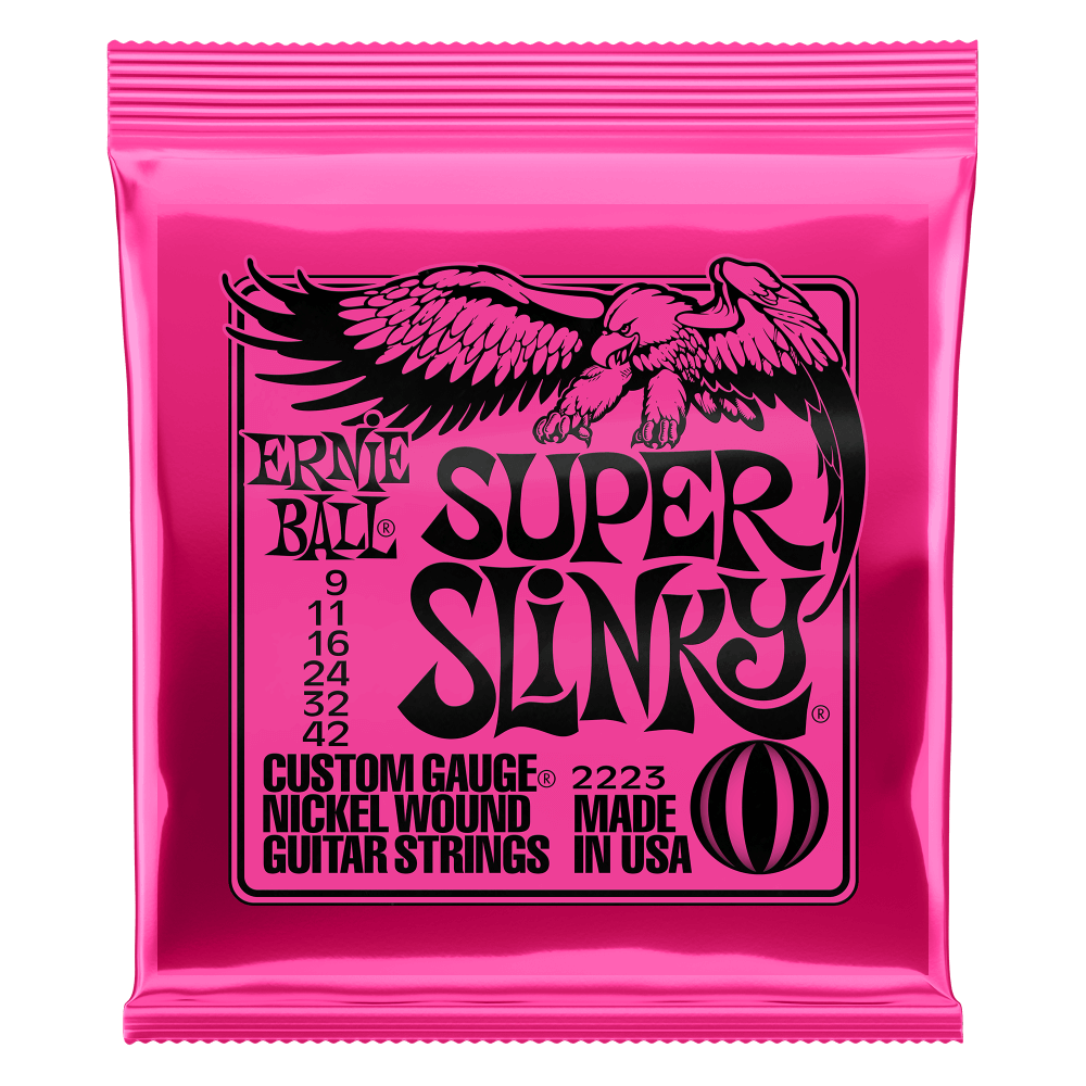 SUPER SLINKY NICKEL WOUND ELECTRIC GUITAR STRINGS - 9-42 GAUGE