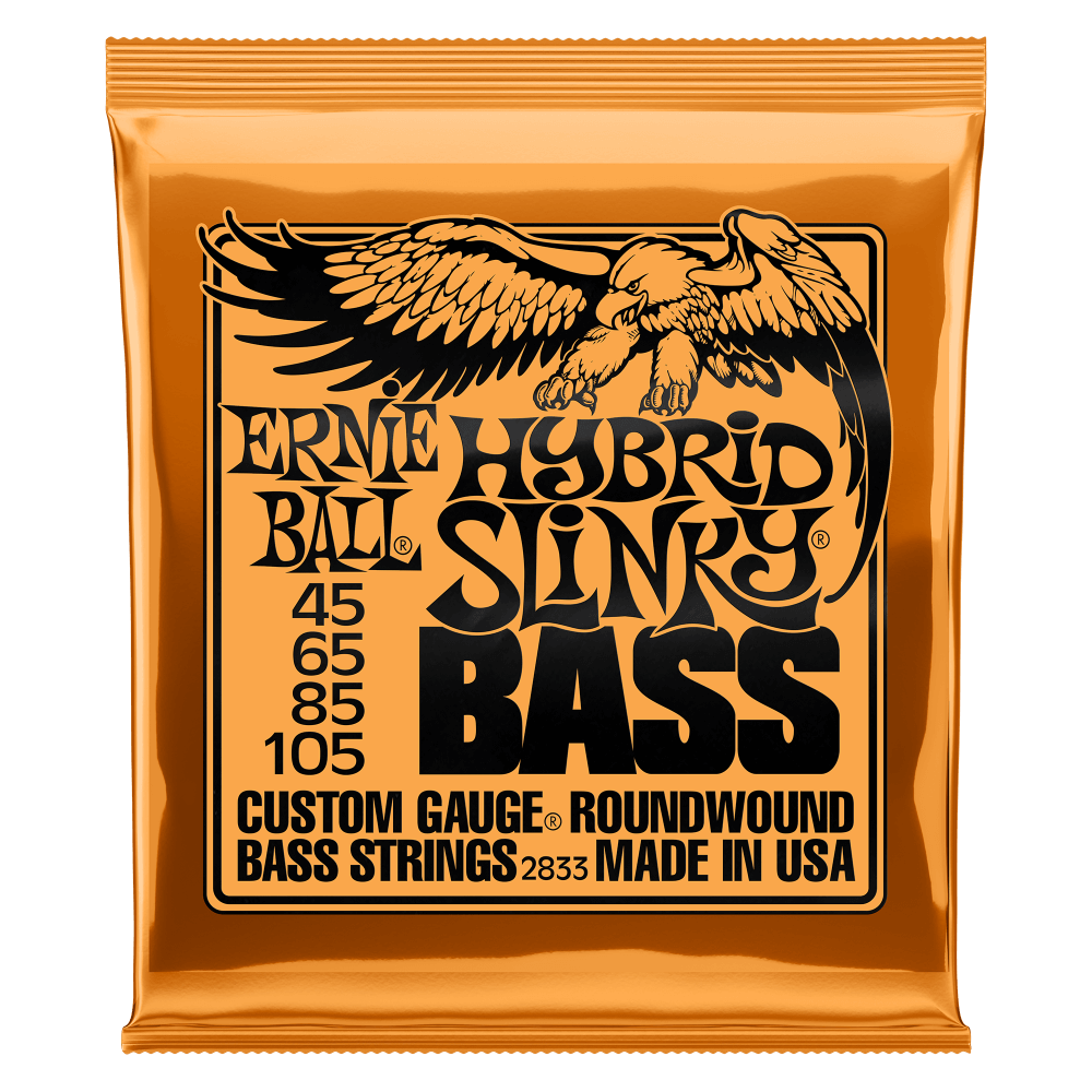 HYBRID SLINKY NICKEL WOUND ELECTRIC BASS STRINGS - 45-105 GAUGE