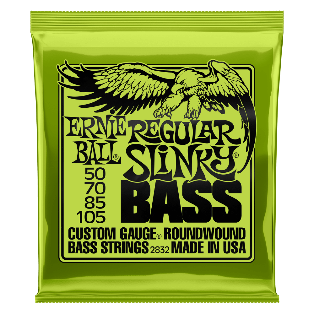 REGULAR SLINKY NICKEL WOUND ELECTRIC BASS STRINGS - 50-105 GAUGE