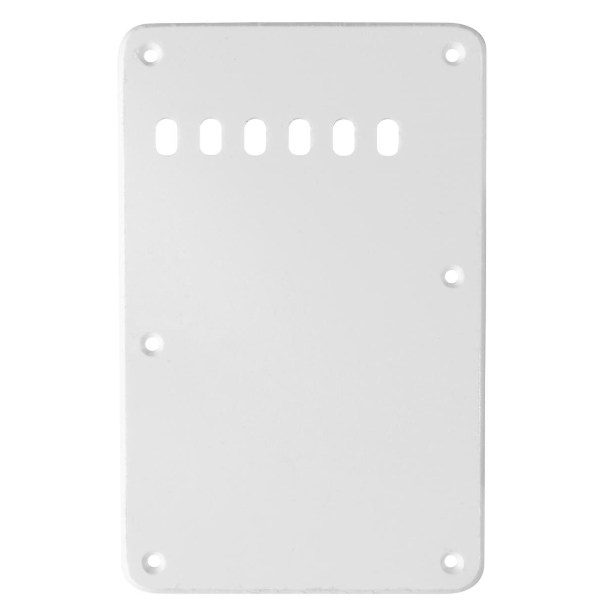 Standard Strat Backplate 1 Ply White