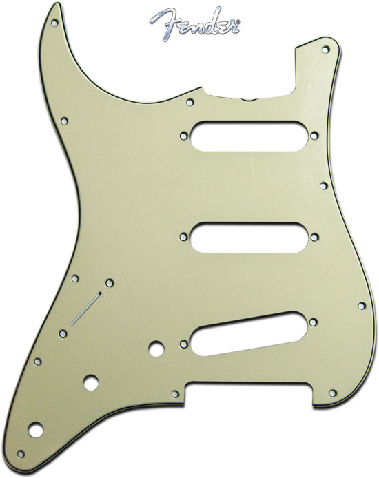 Fender Left Handed '62 Stratocaster Guitar Pickguard Mint Green 11 Hole 3 Ply
