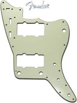 Fender Jazzmaster Guitar Pickguard Mint Green 3 Ply
