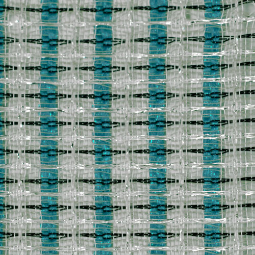 Fender Style Turquoise/White/Silver Grill Cloth / 36'' W
