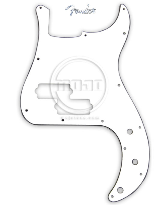 Fender Standard P-Bass Guitar Pickguard White 3 Ply
